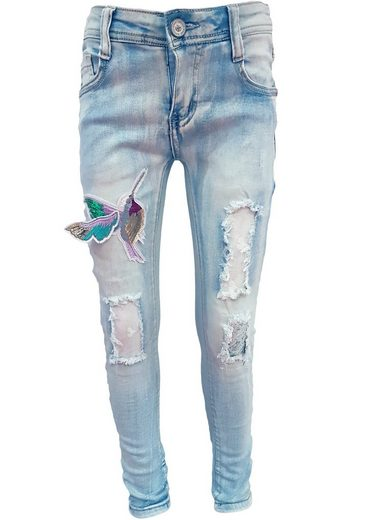 Family Trends Bequeme Jeans mit verspielter Applikation