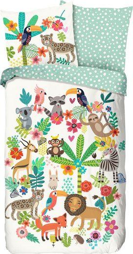 Kinderbettwäsche »Happy«, good morning, mit Tieren