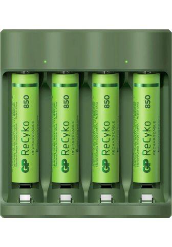 GP Batteries »USB-Akkuladegerät B421 ir 4x ReCyko A...