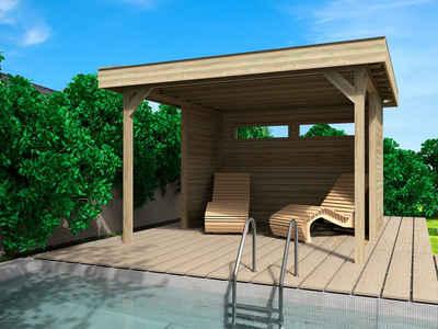 Wolff Holzpavillon »Elba«, (Set), BxT: 350x352 cm