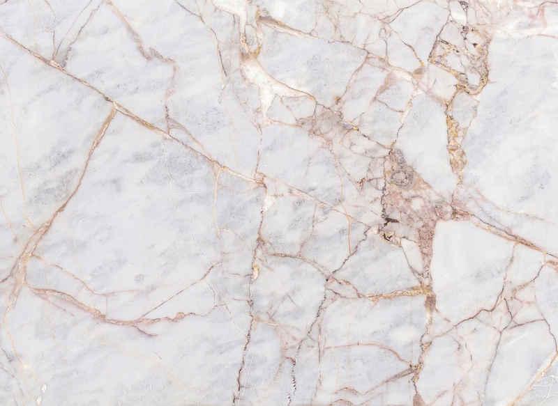 living walls Fototapete »Designwalls Gray Light Marble«, glatt, (5 St)