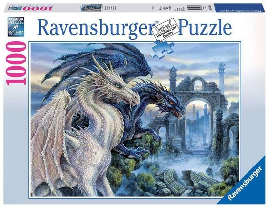 Ravensburger Puzzle »19638 Mystische Drachen 1000 Teile Puzzle«, Puzzleteile