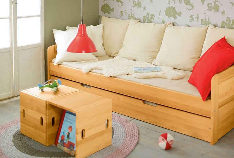BioKinder - Das gesunde Kinderzimmer Funktionsbett »Nico«, 90x200 cm Schlafsofa mit Bettkasten