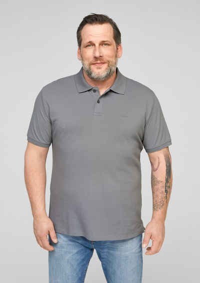 s.Oliver Men Big Sizes Kurzarmshirt »Poloshirt aus Baumwolle« (1-tlg) Stickerei