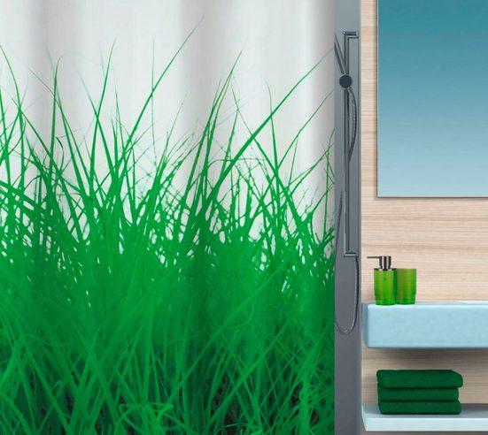 spirella Duschvorhang »GRASS« Breite 180 cm, 180 x 200 cm, wasserabweisend