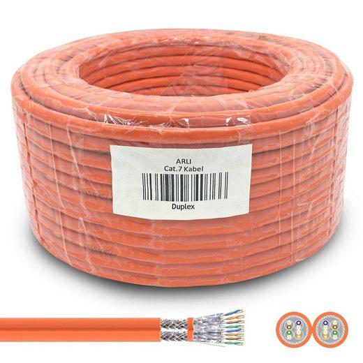 ARLI Installationskabel, (5000 cm), Cat7 Duplex Verlegekabel 50 m S/FTP PIMF Halogenfrei Twin Netzwerk Kabel Netzwerkkabel