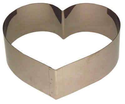 LARES Herzkuchenform »6002-2, Herzbackform mittel«, aus rostfreiem Edelstahl, Made in Germany