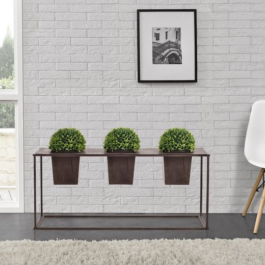 casa.pro Pflanzkübel (2 Stück), Pflanzkübel Edelrost Blumenkübel Blumentopf Indoor Pflanzen Kübel Deko