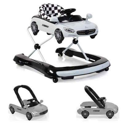Cangaroo Lauflernhilfe »Lauflernhilfe Cabrio 2 in1«, Auto-Design höhenverstellbar Armaturenbrett mit Licht