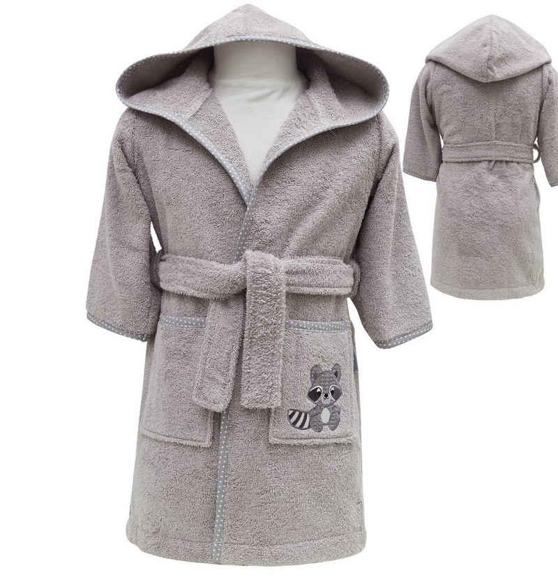 Babybademantel »Waschbär aus 100% Bio-Baumwolle«, SEI Design, Organic Cotton ab 6 Monate bis 3-4 Jahre