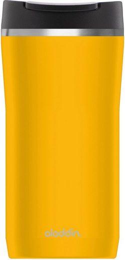 aladdin Coffee-to-go-Becher »Barista Mocca«, Edelstahl, Kunststoff, mit Vakuumisolierung - 2,5 Stunden heiß & 4,5 Stunden kalt, auslaufsicher, 350 ml