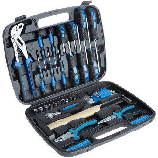 tectake Werkzeugkoffer »Werkzeugkasten 57-tlg.«