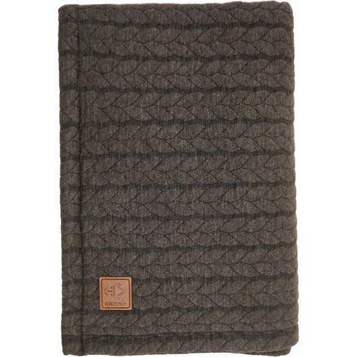 Einschlagdecke »Decke Quilly, Strick Design, anthrazit, 70 x 95«, Kaiser