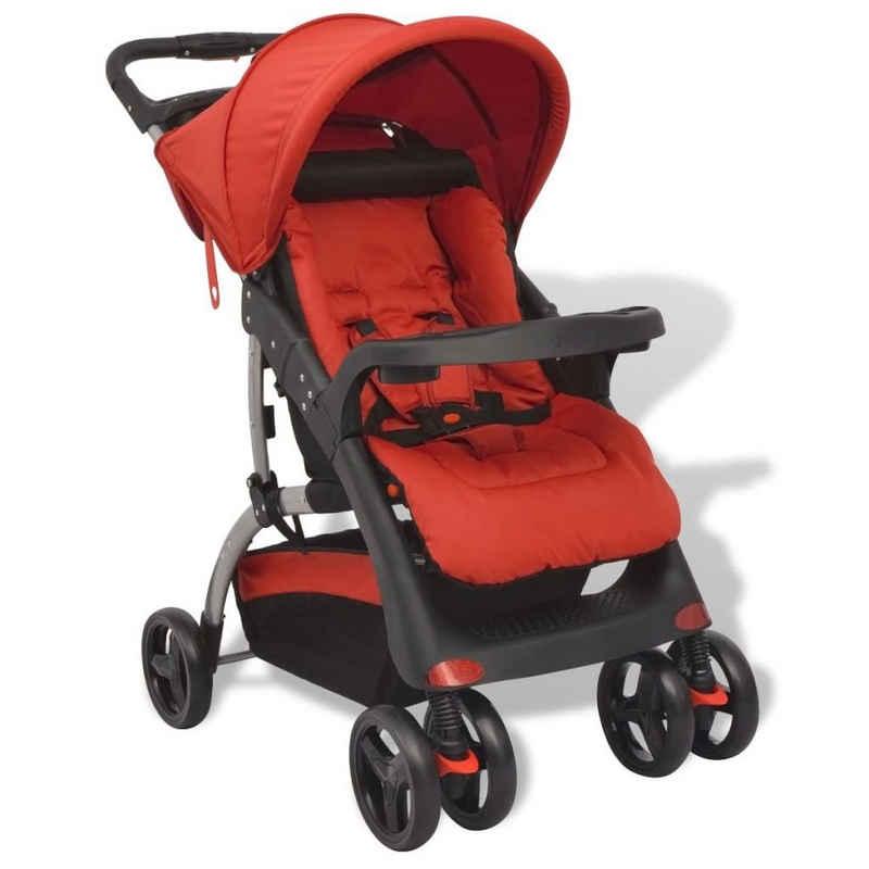 vidaXL Kinder-Buggy »vidaXL Buggy Baby Kinderwagen Sportwagen Babywagen Kinderbuggy Grau/Rot/Blau«