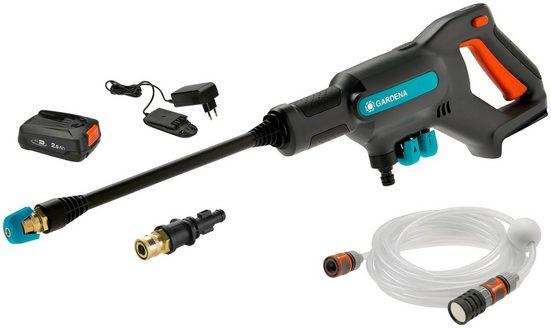 GARDENA Akku-Druckreiniger, Druck max: 24 bar, Fördermenge max: 250 l/h, (5 tlg., mit Akku und Ladegerät)