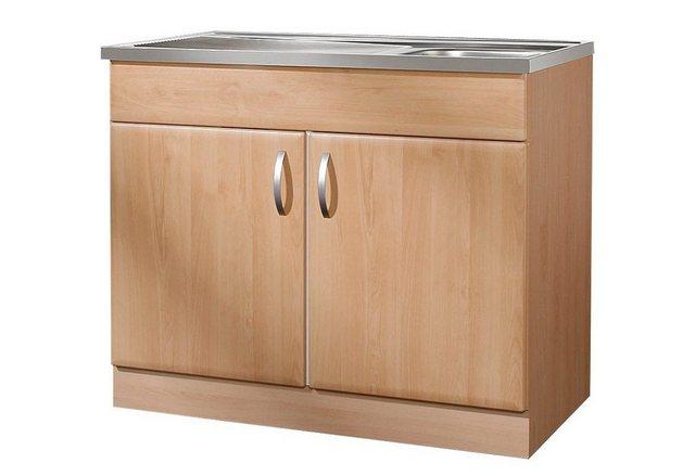 Küchenschränke - wiho Küchen Spülenschrank »Prag« B T H 100 50 85 cm  - Onlineshop OTTO