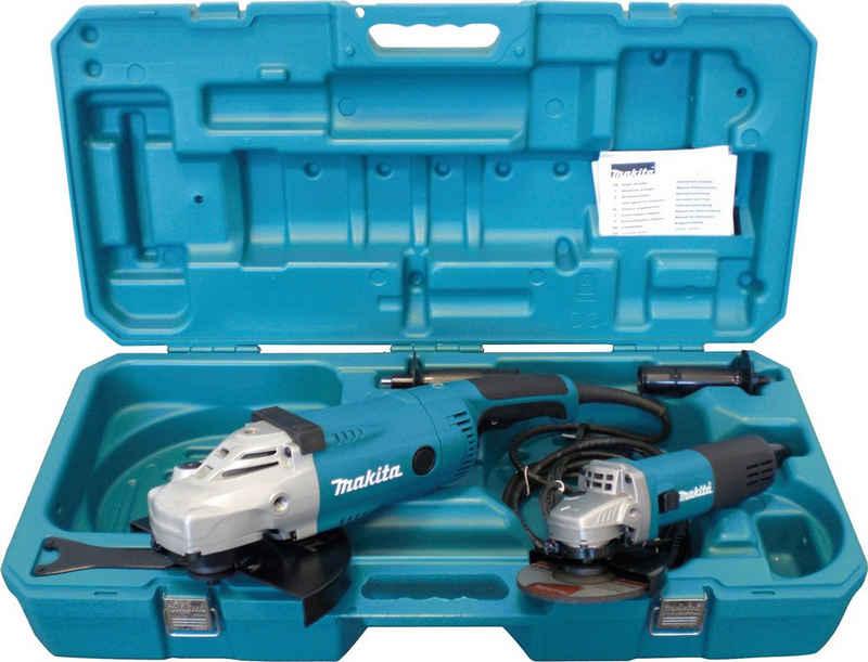 Makita Winkelschleifer »DK0052G«, max. 6600 U/min, (Set), 2 Schleifer Ø 125 und Ø 230 mm