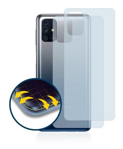 BROTECT Schutzfolie »für Samsung Galaxy M31s (Rückseite)«, (2 Stück), Full-Cover 3D Curved klar