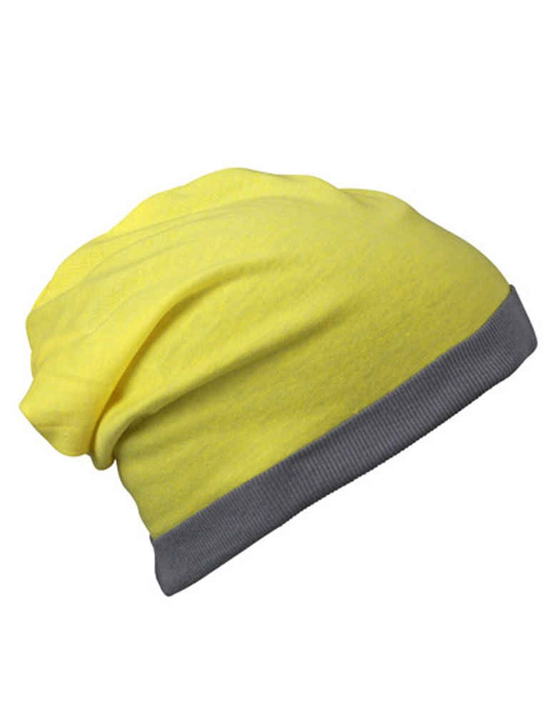 Myrtle Beach Beanie »Sommer Beanie Mütze in Yellow« Frische Melange-Optik