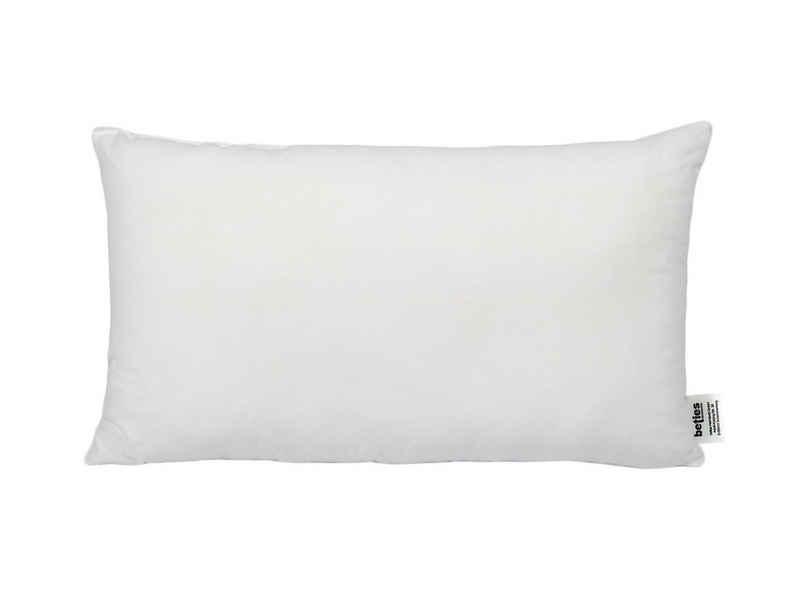 beties Sofakissen »PublikFree«, Kopfkissen ca. 30x50 cm Kissenfüllung Allergiker-Kissen Allergikergeeignet Kissen Schlafkissen Weich Polyester-Faserbällchen Bezug 100% Baumwolle