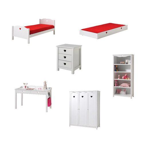 Kindermöbel 24 Jugendzimmer-Set »Jugendzimmer Padma Vipack inklusive Bett + weitere Jugendmöbel«
