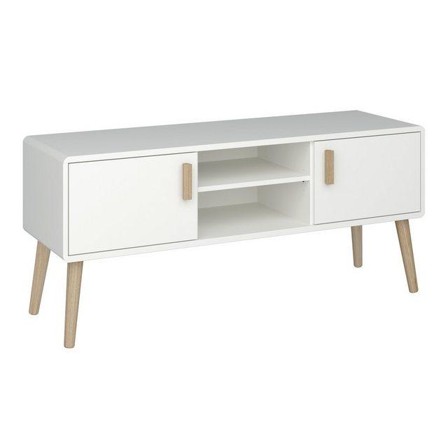 TV Möbel - ebuy24 TV Bank »Pavis TV Tisch mit 2 Türen und 1 Ablage in weiss u«  - Onlineshop OTTO