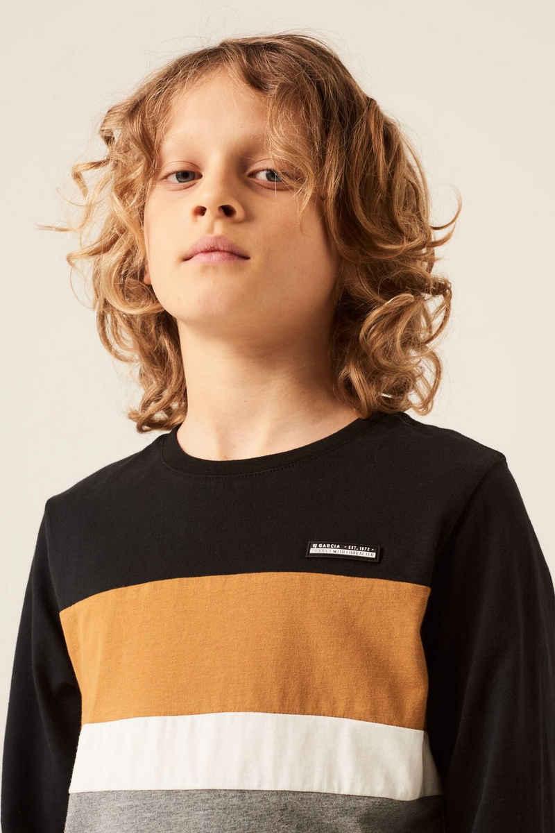 Garcia T-Shirt »I13404 - 1755-off black 1« mit Colourblock