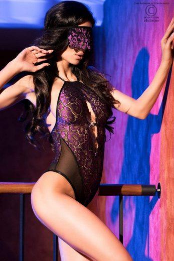 Chilirose Body »Body mit Augenbinde violett«