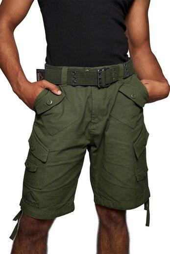 """normani Bermudas »Sommer-Shorts """"Sonora"""" mit Gürtel """"Wadi""""« kurze Sommerhose Freizeithose Vintage-Shorts - 100% nachhaltige Bio-Baumwolle"""