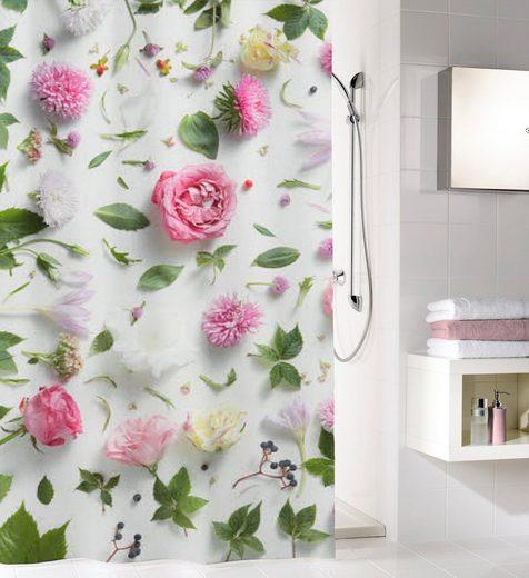 Kleine Wolke Duschvorhang »Rosalie« Breite 120 cm, mit Beschwerungsband