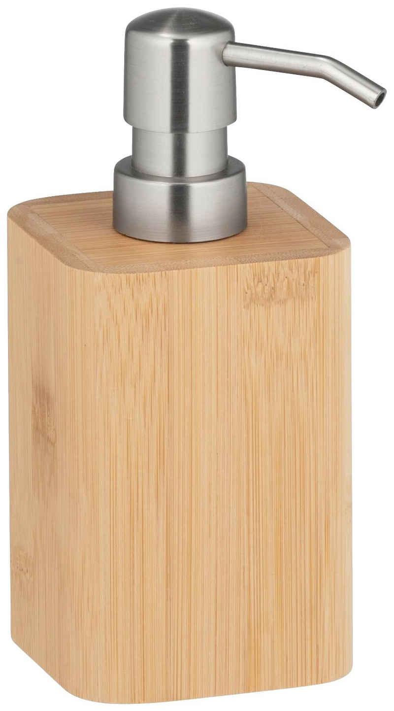 WENKO Seifenspender »Bambusa«, aus Bambus, Füllmenge: 220 ml