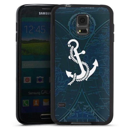 DeinDesign Handyhülle »Sailors Style« Samsung Galaxy S5, Hülle Anker Landkarte Segeln