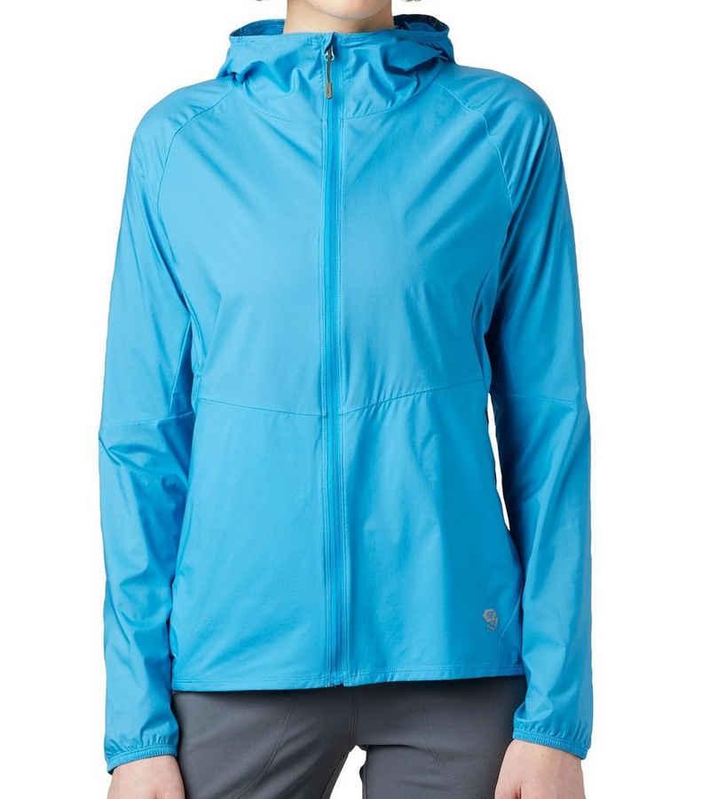 Mountain Hardwear Outdoorjacke »MOUNTAIN HARDWEAR Kor Preshell Hoody Sport-Jacke komfortable Kapuzen-Jacke für Damen Freizeit-Jacke Blau«