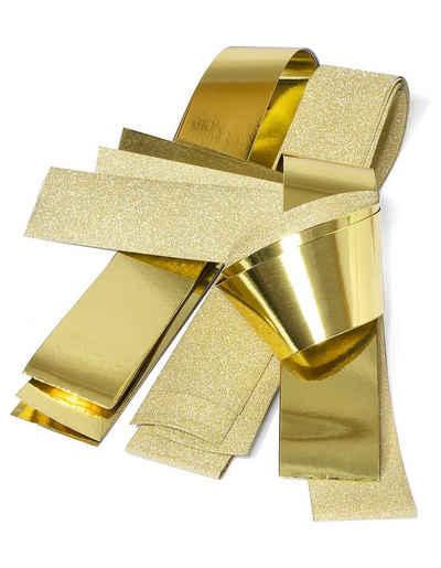 VBS Papiersterne »Papierstreifen glänzend Glitter, gold«, 50 mm