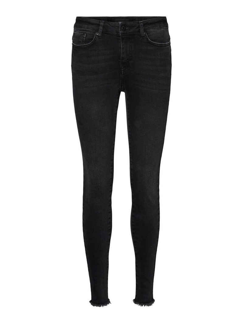 Vero Moda Skinny-fit-Jeans »VMHANNA MR SK RAW EDG JEANS BA1130« Jeanshose mit Stretch