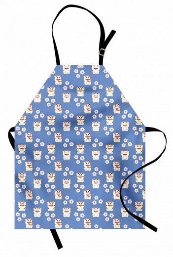 Abakuhaus Kochschürze »Höhenverstellbar Klare Farben ohne verblassen«, Süße Katze Maneki Neko-Katzen-Muster