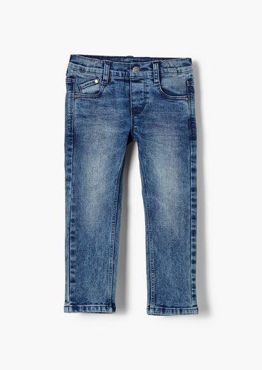 s.Oliver 5-Pocket-Jeans »Regular: Jeans mit Elastikbund« Waschung