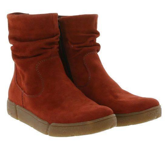 Ara »ara Stiefeletten gemütlicher Damen Echtleder Chelsea-Boots Schlüpf-Boots mit Nubuk-Leder Rot« Chelseaboots