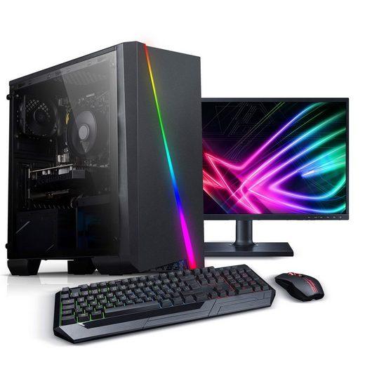 Kiebel »Total« Gaming-PC-Komplettsystem (24, Intel Core i5, GTX 1650, 16 GB RAM, 512 GB SSD, RGB-Beleuchtung, WLAN)