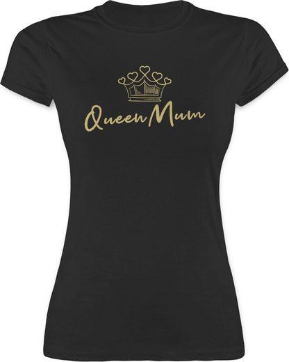 Shirtracer T-Shirt »Queen Mum mit Krone - Muttertagsgeschenk - Damen Premium T-Shirt«