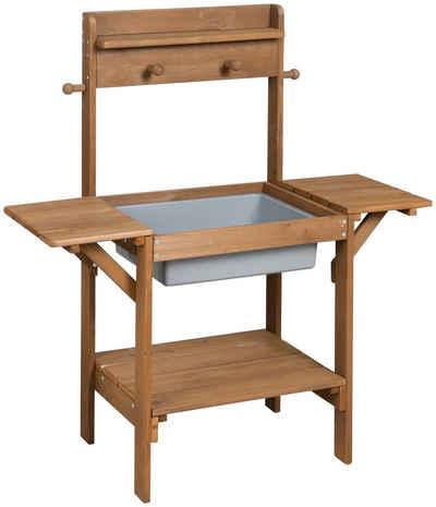 roba® Outdoor-Spielküche »Matschküche MIDI« Holz, Kunststoff, braun