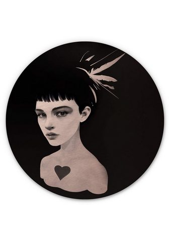 Wall-Art Metallbild »Lady paveikslas Herz Metal...