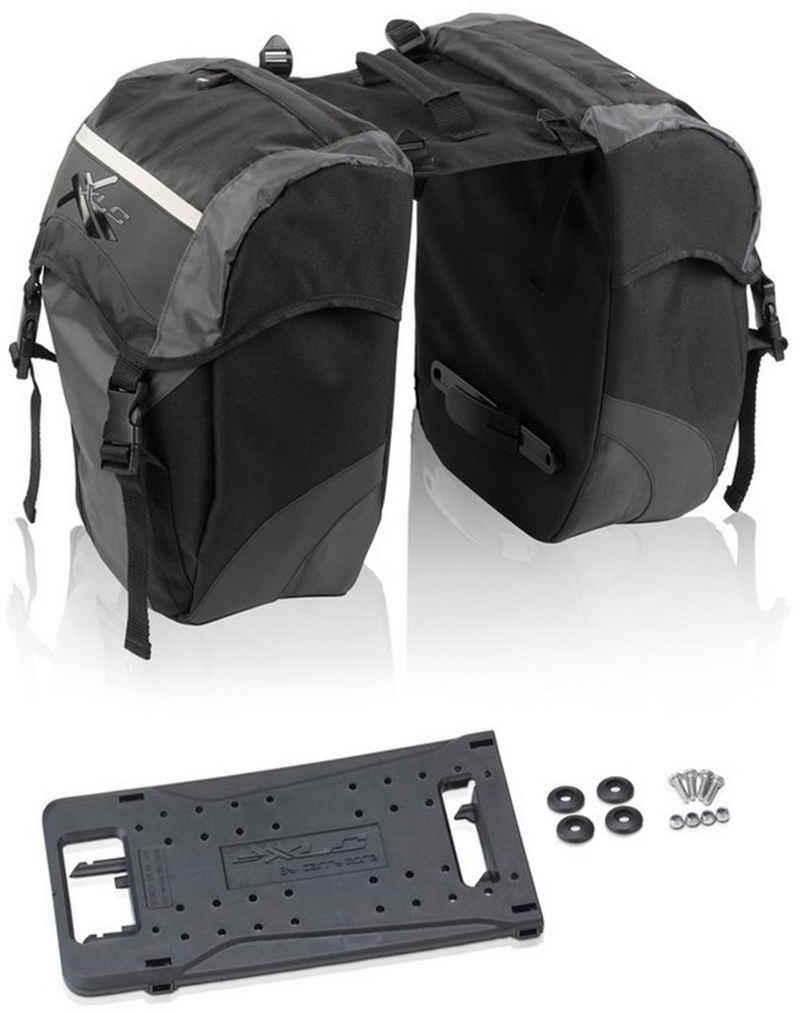 XLC Gepäckträgertasche »Doppelpacktaschen Carry more« (2-tlg)