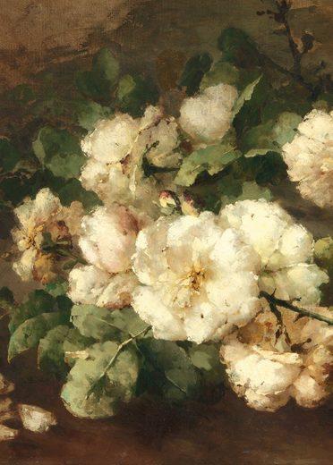 WOHNIDEE-Kollektion Fototapete »Rosenromantik«, (4 St)