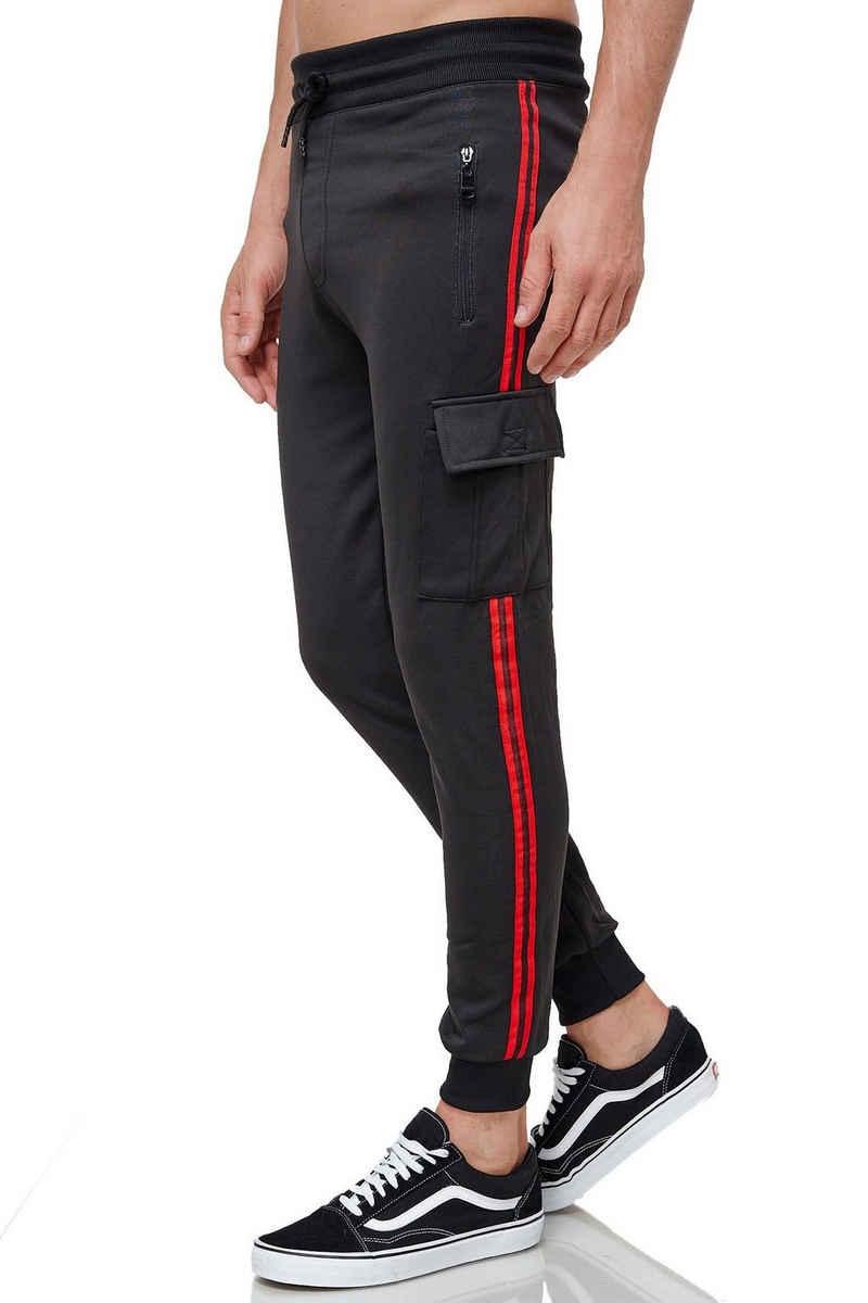 Max Men Jogginghose »3507« Herren Cargo Jogginghose mit Gummibund Jogger Sweat Pants