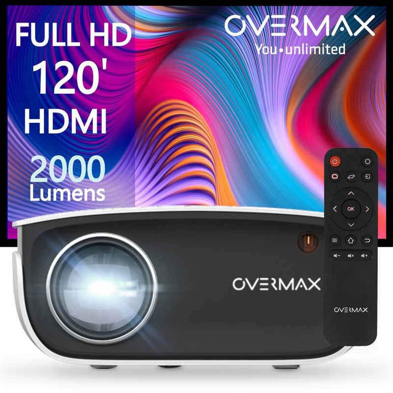 Overmax »MULTIPIC 2.5« Beamer (2000 lm, Kontrast 1500:1, Full HD 1920x1080p px, Gratis HDMI-Kabel 50.000 Stunden 120 Zoll 2000Lumen)