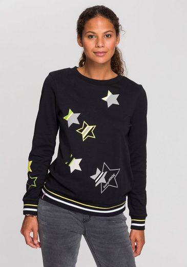 KangaROOS Sweater mit süßen Sternchen-Drucken