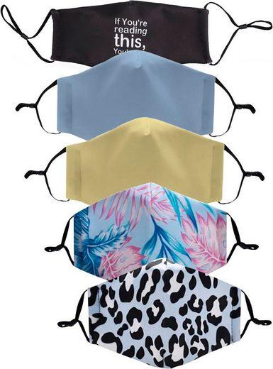 HaILY'S Mund-Nasen-Masken, (Packung, 5-tlg)