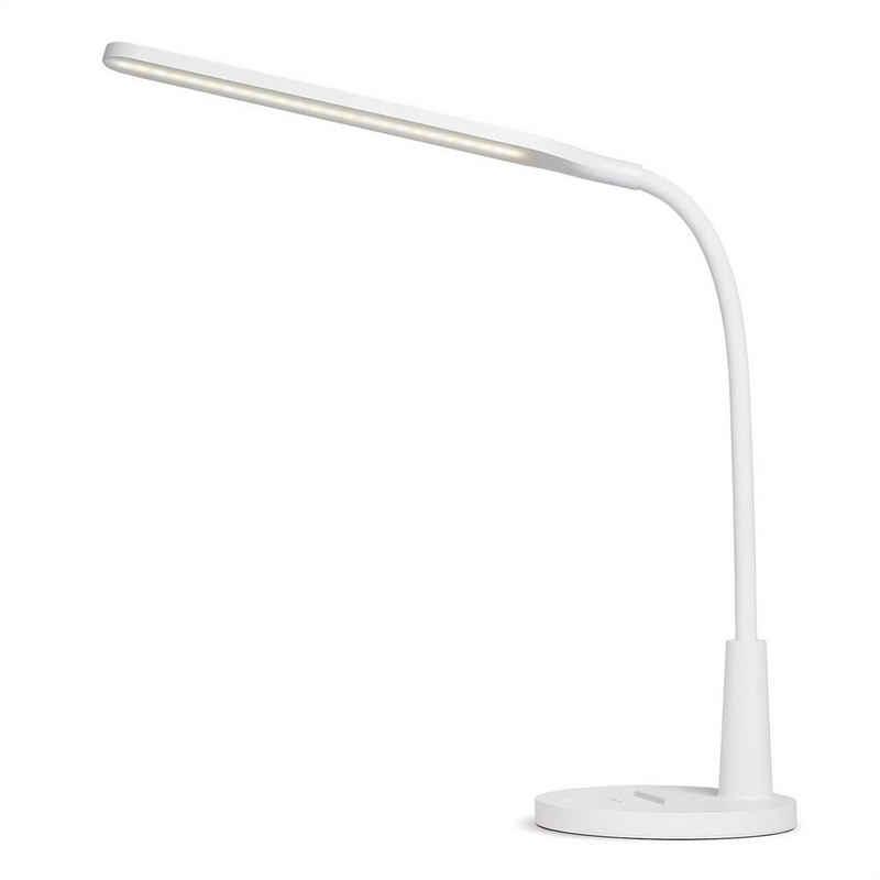 Tomons LED Schreibtischlampe »Schreibtischlampe LED Dimmbar Stufenlos, Tischleuchte 3 Farb, Touch Control, mit USB-Anschluss und Handyhalter«