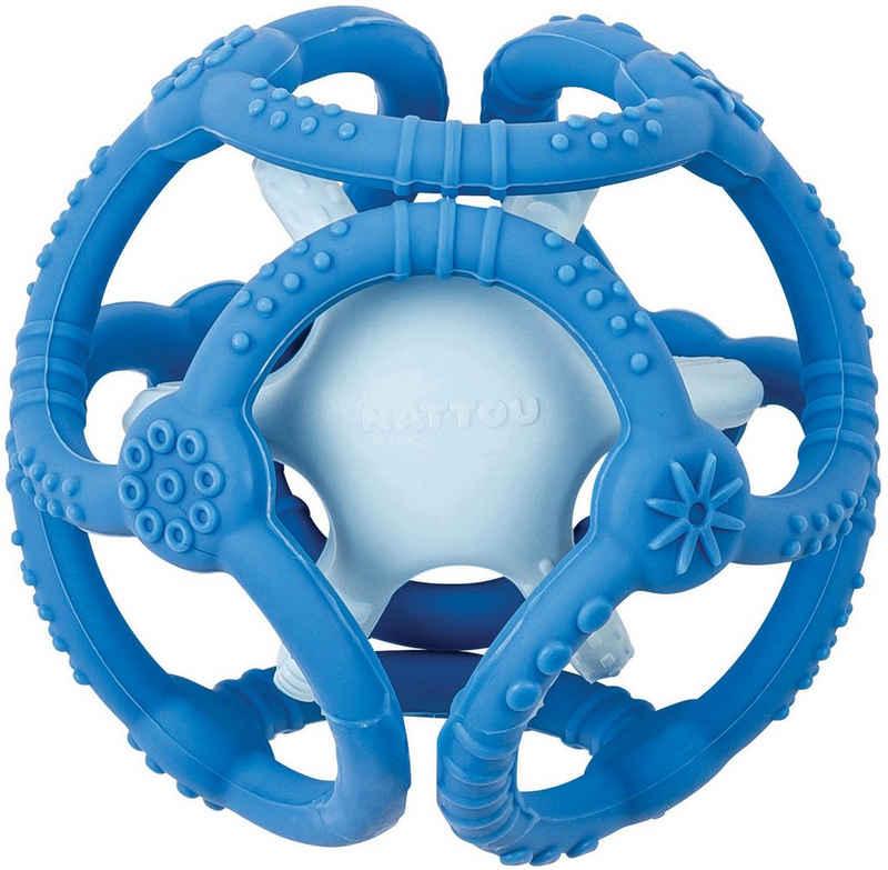 Nattou Greifspielzeug »Silicon, Bälle petrolblau/hellblau« (Set, 2-tlg), zum Kauen